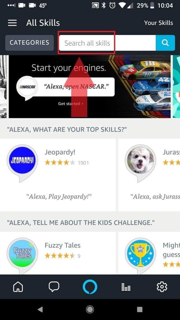 Search for Alexa Hue Skill