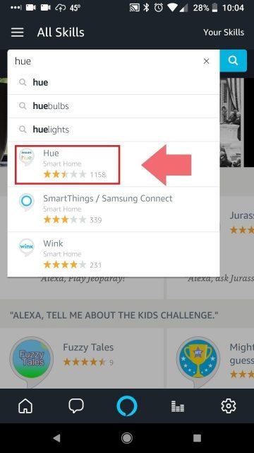 Select Alexa Hue Skill