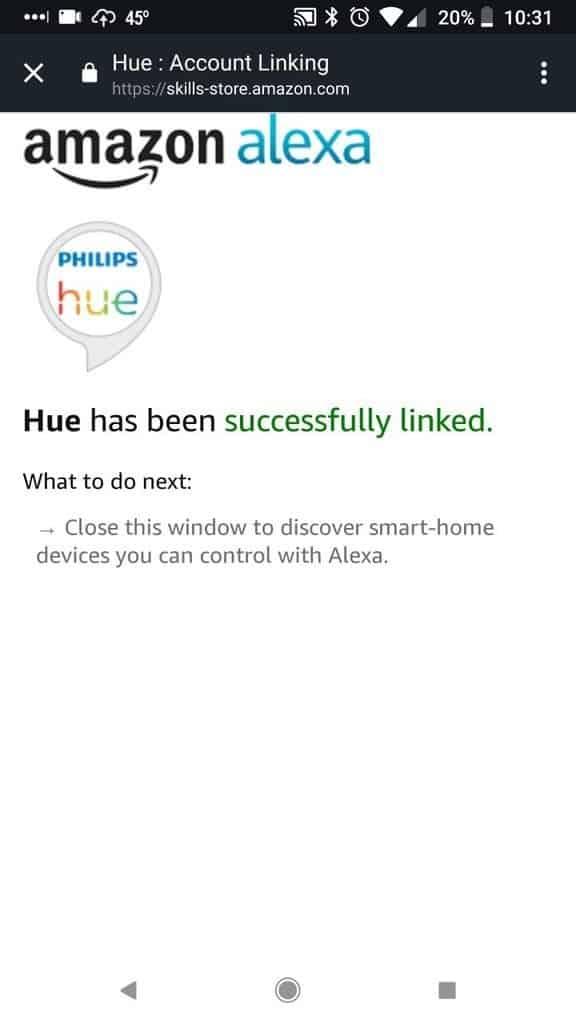 Link Alexa and Hue Accounts