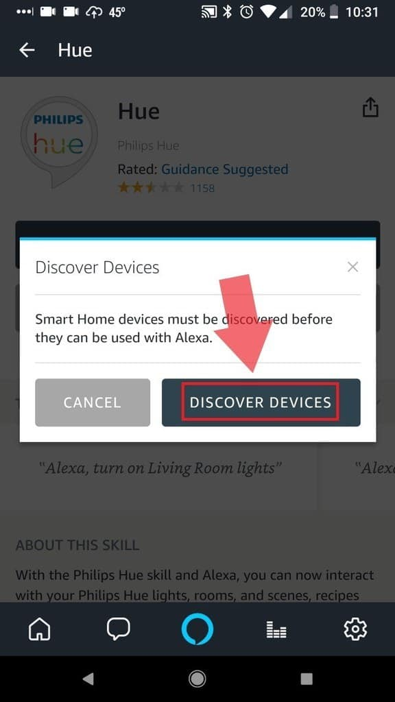 Select Discover Devices