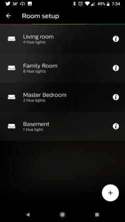 Philips Hue App Add Room
