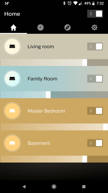 Philips Hue App Rooms