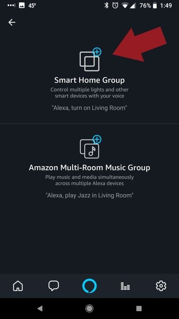 Alexa App Add Group