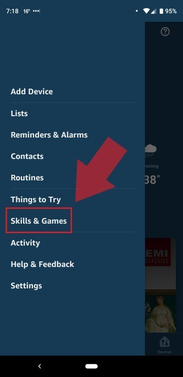 Select Alexa Skills and Games