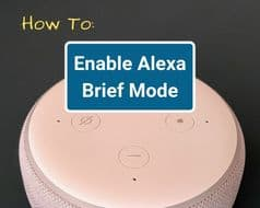 How to Enable Alexa Brief Mode