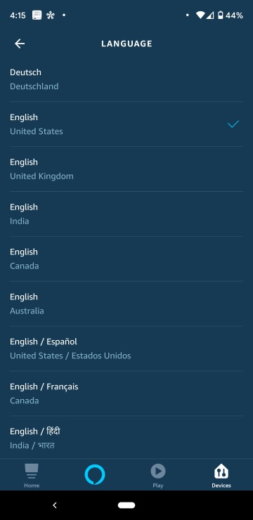 How to Change Alexas Voice Language List