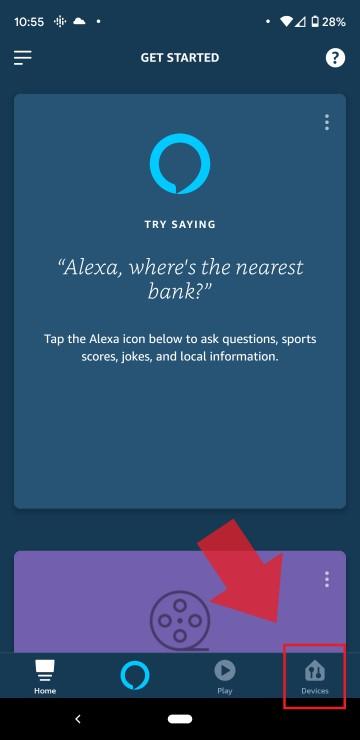 Select Alexa Smart Home Device