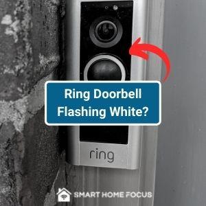 ring doorbell flashing white